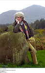 Kerry Writer John Moriarty pictured at home in Coolies, Muckross, Killarney with Torc Mountain in background in 2006.<br /> Picture by Don MacMonagle<br /> <br /> John commented that this photograph was his favourite image of himself<br /> <br /> &copy; macmonagle.com<br /> email: info @macmonagle.com