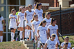 The High Point Panthers walk from the locker room to the field prior to their match against the Appalachian State Mountaineers at Vert Track, Soccer & Lacrosse Stadium on August 26, 2016 in High Point, North Carolina.  The Panthers defeated the Mountaineers 2-0.  (Brian Westerholt/Sports On Film)