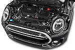 Car Stock 2016 MINI Clubman Cooper-SD 5 Door wagon Engine  high angle detail view