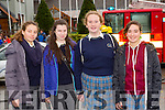 Nioleta Navarro, Katie Sugrue, Rachel Mangan and Sara Abad from Colaiste na Sceilige Caherciveen at the Road Safety roadshow in the INEC on Tuesday