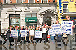 A.I.B.Protest : Members of the Tarbert Development Association and other local communities protesting outside the Listowel branch of A.I.B. on theFriday of Listowel races over the closure of the Tarbert branch.