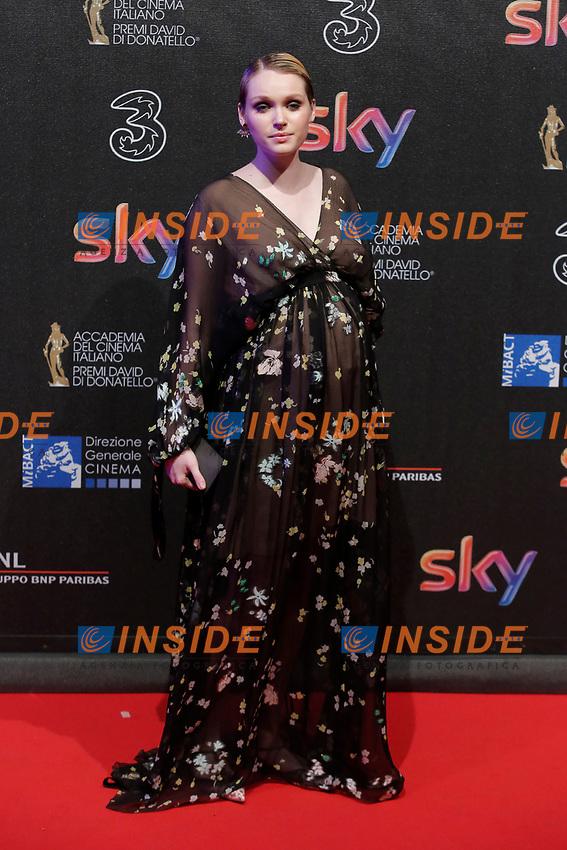 Caterina Shula <br /> Roma 27-03-2017. Premio David di Donatello 2017.<br /> Rome March 27th 2017. David di Donatello ceremony 2017. <br /> Foto Samantha Zucchi Insidefoto