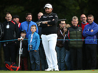 Shane Lowry (IRL) deep in thought over missed putt opportunities throughout the Final Round of the British Masters 2015 supported by SkySports played on the Marquess Course at Woburn Golf Club, Little Brickhill, Milton Keynes, England.  11/10/2015. Picture: Golffile | David Lloyd<br /> <br /> All photos usage must carry mandatory copyright credit (&copy; Golffile | David Lloyd)