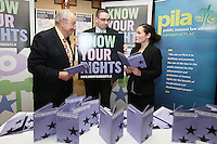 NO REPRO FEE. 23/11/2010. ICCL BOOK LAUNCH. Pictured at Buswells Hotel, Dublin at the launch of the ICCL's latest Know your Rights publication on the European Convention of Human Rights were Guest Lawyer Lord Anthony Lester, Larry Donnelly manager PILA and Noeline Blackwell Director FLAC. Picture James Horan/Collins Photos