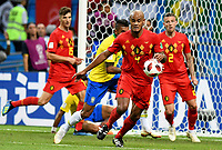 KAZAN - RUSIA, 06-07-2018: Vincent KOMPANY jugador de Bélgica en acción durante partido de cuartos de final entre Brasil y Bélgica por la Copa Mundial de la FIFA Rusia 2018 jugado en el estadio Kazan Arena en Kazán, Rusia. / Vincent KOMPANY player of Belgium action during the match between Brazil and Belgium of quarter final for the FIFA World Cup Russia 2018 played at Kazan Arena stadium in Kazan, Russia. Photo: VizzorImage / Julian Medina / Cont