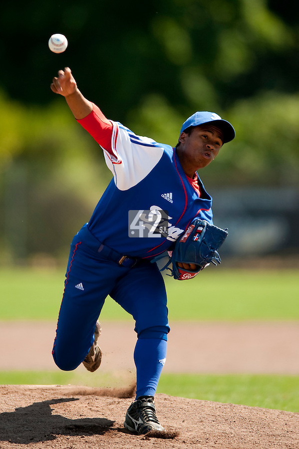 Baseball - 2009 European Championship Juniors (under 18 years old) - Bonn (Germany) - 04/08/2009 - Day 2 - Edison Garcia (France)