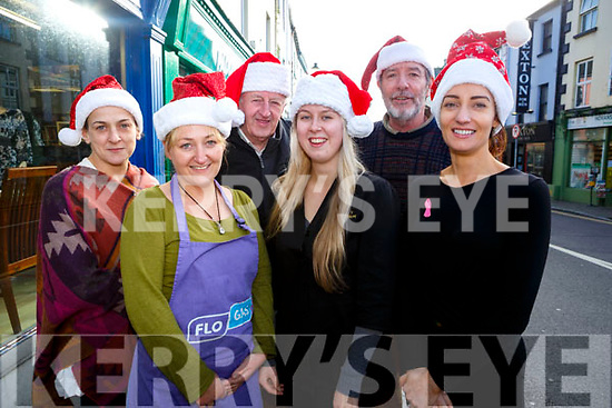 Christmas in Listowel Pictured l-r Lizzy Lyons from Lizzy's Little Kitchen, Louise Stack, all kinds of everything, Charlie Ann Walsh, Horans Health Store, Donal O'Sullivan, Utopia Boutique, Damian Stack,  Stacks Furniture, Aoife Murphy, EBS Listowel