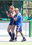 ROSARIO (Argentinie) - Blessure voor Willemijn Bos, twee dagen voordat in het Argentijnse  Rosario de Champions Trophy Hockey voor vrouwen begint.met Johannes Veen.