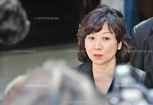 August 15, 2013, Tokyo, Japan : Japan's Chairperson of the Liberal Democratic Party General Council Seiko Noda visits Yasukuni Shrine to pay his respects for the war dead on August 15, 2013 in Tokyo, Japan. (Photo by AFLO)