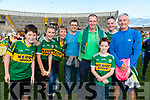 Kerry Fans at the Kerry v Kildare championship clash on Saturday evening at Fitzgerald stadium, from left: Brendan O'Sullivan, Katie and Catriona Kennedy, Noel and JJ Corduff, Michael and Michale (Snr) Brosnan and Tommy Kennedy (Tralee).