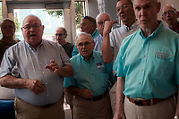NWA Democrat-Gazette/CHARLIE KAIJO The Pride of the Ozarks Barbershop Quartet perform during the First Friday event, Friday, July 6, 2018 at the Walton 5-10 in Bentonville. <br /><br />The public was invited to attend the American Past Times themed First Friday event which included food trucks, a barbershop quartet, a bike race and a flag retirement ceremony led by area Boy Scout troops.