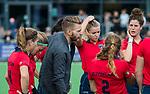 AMSTELVEEN  - coach Robert Jan Cox (Laren)  , hoofdklasse hockeywedstrijd dames Pinole-Laren (1-3). COPYRIGHT  KOEN SUYK