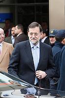 ATENCAO EDITOR IMAGEM EMBARGADA PARA VEICULOS INTERNACIONAIS - MADRI, ESPANHA, 25 NOVEMBRO 2012 - REI JUAN CARLOS HOSPITAL - O primeiro-ministro da Espanha, Mariano Rajoy e visto apos visita ao rei da Espanha Juan Carlos que passou por uma cirurgia de quadril realizado no Hospital San Jose, em Madri capital da Espanha, neste domingo, 25. (FOTO: ALFAQUI / BRAZIL PHOTO PRESS).