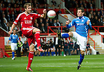 Aberdeen v St Johnstone... 23.07.11   SPL Week 1.Kevin Moon and Scott Vernon.Picture by Graeme Hart..Copyright Perthshire Picture Agency.Tel: 01738 623350  Mobile: 07990 594431