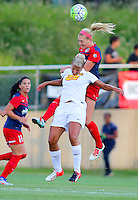 Boyds, MD - Saturday Sept. 03, 2016: Megan Oyster, Lianne Sanderson during a regular season National Women's Soccer League (NWSL) match between the Washington Spirit and the Western New York Flash at Maureen Hendricks Field, Maryland SoccerPlex.