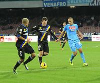Gol Antonio Cassano  durante l'incontro di calcio di Serie A  Napoli Parmi allo  Stadio San Paolo  di Napoli , 23 Novembre 2013<br /> Foto Ciro De Luca
