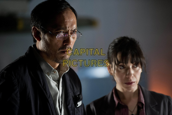 Ken Watanabe, Sally Hawkins<br /> in Godzilla (2014) <br /> *Filmstill - Editorial Use Only*<br /> CAP/NFS<br /> Image supplied by Capital Pictures
