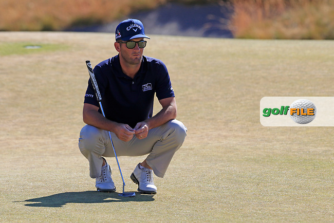 Matt Every (USA) lines up his putt on the 17th green during Friday's Round 2 of the 2015 U.S. Open 115th National Championship held at Chambers Bay, Seattle, Washington, USA. 6/20/2015.<br /> Picture: Golffile   Eoin Clarke<br /> <br /> <br /> <br /> <br /> All photo usage must carry mandatory copyright credit (&copy; Golffile   Eoin Clarke)