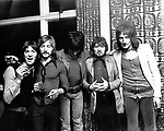 Faces 1971 Ian McClagan, Kenny Jones, Ron Wood, Ronnie Lane and Rod Stewart.© Chris Walter.