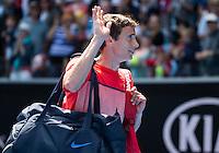 ANDREY KUZNETSOV (RUS)<br /> <br /> TENNIS - GRAND SLAM ITF / ATP  / WTA - Australian Open -  Melbourne Park - Melbourne - Victoria - Australia  - 25 January 2016<br /> <br /> &copy; AMN IMAGES