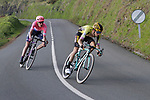 George Bennett (NZL) Team Jumbo-Visma and Hugh John Carthy (GBR) EF Education First near the end of Stage 5 of the Tour of the Basque Country 2019 running 149.8km from Arrigorriaga to Arrate, Spain. 12th April 2019.<br /> Picture: Colin Flockton | Cyclefile<br /> <br /> <br /> All photos usage must carry mandatory copyright credit (© Cyclefile | Colin Flockton)