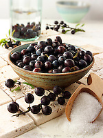 Fresh sloe berries