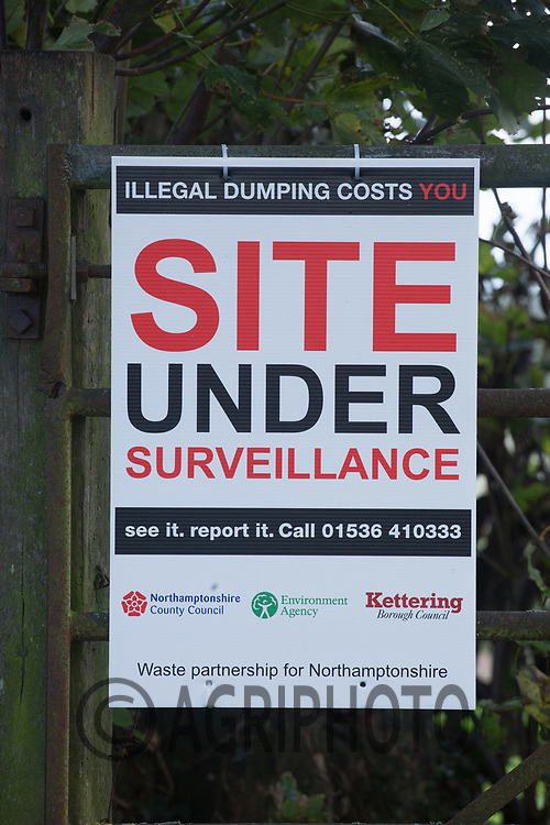 Site under surveillance sign<br /> Picture Tim Scrivener 07850 303986<br /> &hellip;.covering agriculture in the UK&hellip;.