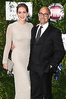 Felicity Blunt and Stanley Tucci<br /> arrives for the One for the Boys charity fashion event at the V&amp;A Museum, London.<br /> <br /> <br /> &copy;Ash Knotek  D3133  12/06/2016