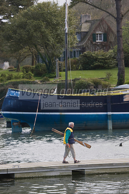 Europe/France/Bretagne/29/Finistère/env de L'Aber Wrac'h: Port de Paluden sur l' Aber Wrac'h