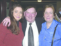 Deputy Jackie Healy Rae TD at his general election  fundraising dance in The Gleneagle Hotel Killarney on Friday night with Catriona and Margaret Fitzgerald, Kilcummin..Pic: Eamonn Keogh (MacMonagle, Killarney) Jackie Healy-Rae, TD from the book by Don MacMonagle entitled 'Jackie - Keeping Up Appearances' published in 2002.