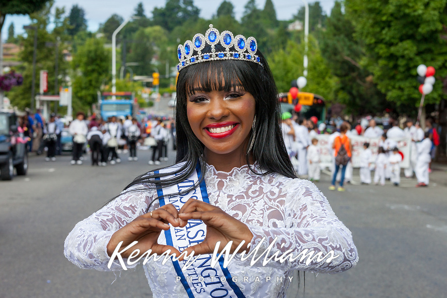 Alena L Walker, Miss Washington ABNI 2017, Renton River Days, WA, USA.