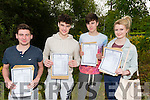 L-R Eoin O'Mahony, Gavin Horan, Killian Corbett and  Rebecca Mc Carthy from Presentation Secondary School, Milltown after receiving their Leaving Cert results last Wednesday morning.