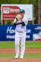 Beloit Snappers pitcher Jared Poche' (16) on the mound during a Midwest League game against the Quad Cities River Bandits on May 20, 2018 at Pohlman Field in Beloit, Wisconsin. Beloit defeated Quad Cities 3-2. (Brad Krause/Four Seam Images)