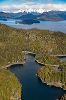 Islands in Sitka Sound, along the coast of Baranof Island, Southeast, Alaska.
