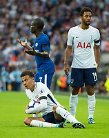 Tottenham's Dele Alli during the Premier League match between Tottenham Hotspur and Chelsea at Wembley Stadium, London, England on 20 August 2017. Photo by Andrew Aleksiejczuk / PRiME Media Images.