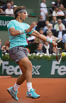 Rafael Nadal (ESP) defeats Dominic Thiem (AUT) 6-2, 6-2, 6-3 at  Roland Garros being played at Stade Roland Garros in Paris, France on May 29, 2014