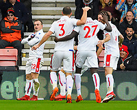 Xherdan Shaqiri of Stoke City left celebrates his goal during AFC Bournemouth vs Stoke City, Premier League Football at the Vitality Stadium on 3rd February 2018