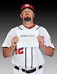 25 February 2011: Washington Nationals' infielder Kevin Barker poses for his Photo Day portrait at Space Coast Stadium in Viera, Florida. Mandatory Credit: Ed Wolfstein Photo