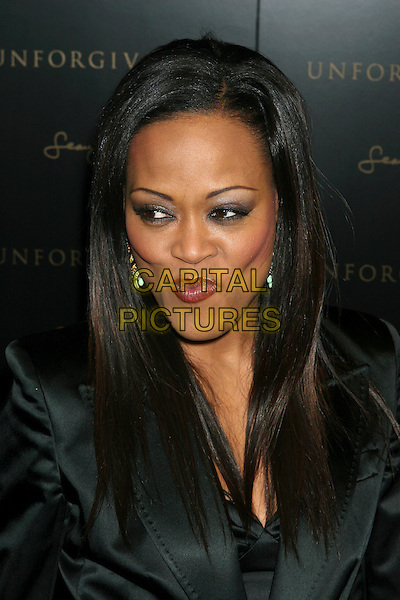 "ROBIN GIVENS.""Unforgivable"" Fragrance Launch at Core Club, New York, USA..February 1st, 2006.Ref: IW.headshot portrait funny face cheekbones.www.capitalpictures.com.sales@capitalpictures.com.©Capital Pictures"