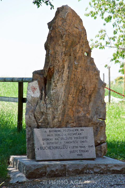 Italy, Collio. Monument for Nazi victims.