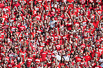 September 19, 2009: Wisconsin Badgers fans cheer during an NCAA football game against the Wofford Terriers at Camp Randall Stadium on September 19, 2009 in Madison, Wisconsin. The Badgers won 44-14. (Photo by David Stluka)