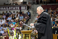Spring Graduation - first ceremony for the College of Education and the College of Business. Commencement speaker: Former Rhode Island Supreme Court Chief Justice Frank J. Williams. <br />  (photo by Robert Lewis / &copy; Mississippi State University)