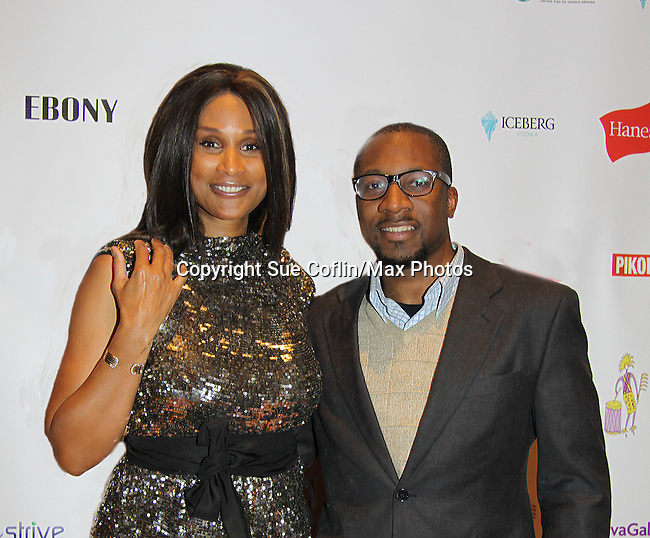 Cavaughn Noel poses with Beverly Johnson at Color of Beauty Awards honoring supermodel Beverly Johnson on February 4, 2014 at Holy Apostles, New York City, New York. (Photo by Sue Coflin/Max Photos)