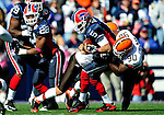 11 October 2009: Buffalo Bills' quarterback Trent Edwards is sacked for a loss in the first quarter by the Cleveland Browns at Ralph Wilson Stadium in Orchard Park, New York. The Browns defeated the Bills 6-3 for Cleveland's first win of the season...Mandatory Photo Credit: Ed Wolfstein Photo