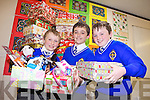 Sean Gannon, Cathal Murphy and Robert Jones pupils at CBS primary school, Tralee who along with their classmates are gathering shoeboxes to send to poor children across the world.