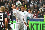 06.10.2019, Commerzbankarena, Frankfurt, GER, 1. FBL, Eintracht Frankfurt vs. SV Werder Bremen, <br /> <br /> DFL REGULATIONS PROHIBIT ANY USE OF PHOTOGRAPHS AS IMAGE SEQUENCES AND/OR QUASI-VIDEO.<br /> <br /> im Bild: Leonardo Bittencourt (SV Werder Bremen #10), Theodor Gebre Selassie (#23, SV Werder Bremen)<br /> <br /> Foto © nordphoto / Fabisch