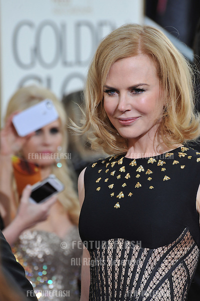 NIcole Kidman at the 70th Golden Globe Awards at the Beverly Hilton Hotel..January 13, 2013  Beverly Hills, CA.Picture: Paul Smith / Featureflash
