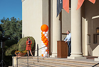 President Jonathan Veitch<br /> Explore Occidental - Fall Preview Day, Friday, November 9, 2018.<br /> Fall open house to give prospective students and their families the opportunity to explore Occidental with tours of campus, student and faculty-led discussions, the ability to sit in on a class, and to learn what it means to be an Oxy Tiger.<br /> (Photo by Marc Campos, Occidental College Photographer)