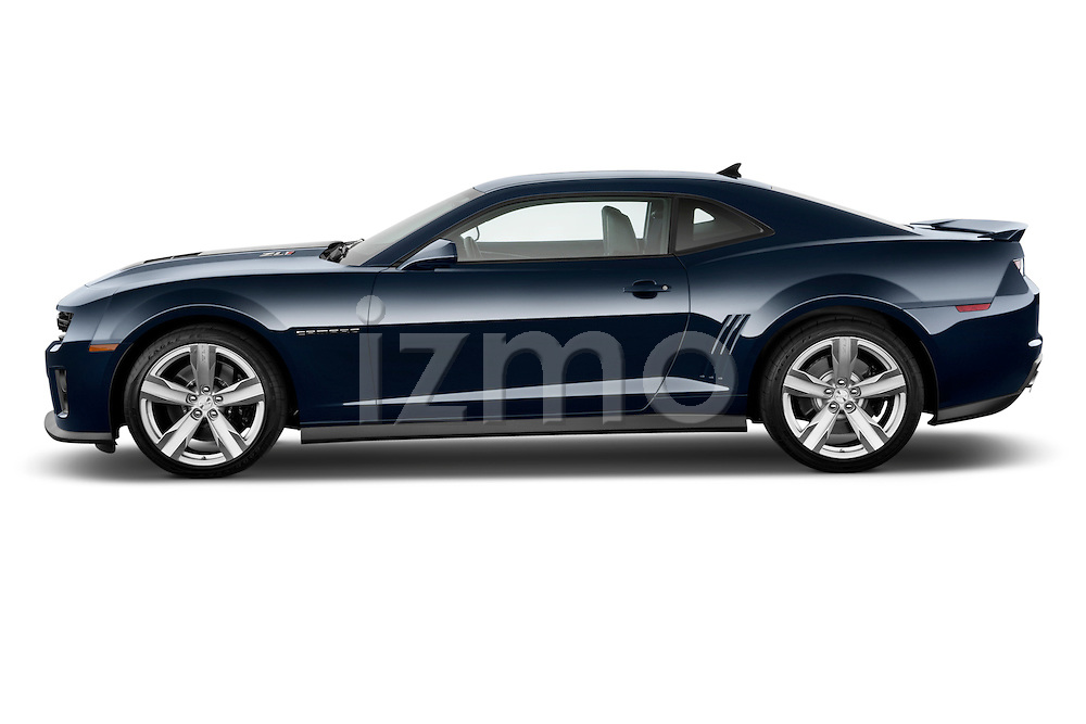 Side profile photo of a 2013 Chevrolet Camaro ZL1 coupe