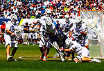May 27, 2019:  The Cavaliers of Virginia [white] used a stellar defense to defeat defending NCAA champs Yale 13-9 in the D1 lacrosse finals.  The match was at Lincoln Financial Field in Philadelphia Pennsylvania, May 26th 2019.  Dan Heary/Eclipse Sporstwire/CSM